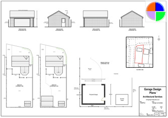 Free Garage Plans on single story house with loft