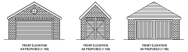 Garage Design Plans Planning Permission Applications And
